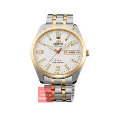 Đồng hồ nam dây thép Orient 3 sao RA-AB0028S19B Automatic Demi vàng Gold size 39mm chống nước 50m
