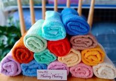 Khăn gội đầu, quấn tóc sợi đơn 35×80(75gr) nhiều màu lựa chọn, khăn sợi oe mềm mại. .
