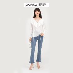 Áo cổ V đan dây AB770 mẫu mới GUMAC