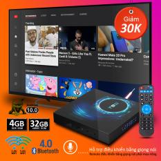 Android tv box, Tivi box, Smart tv box 4BG ram , 32GB rom , bluetooth 5.0, băng tần wifi kép, độ phân giải 6K rõ nét , phiên bản android 10.0 , có hỗ trợ điều khiển bằng giọng nói , remote mua riêng , bảo hành 1 năm , T95