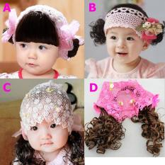 Băng đô ren tóc giả dài, tóc mái tóc 2 bên nhiều kiểu dễ thương cho bé gái