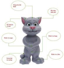 Mèo Tom Kể Chuyện Biết Hát Thông Minh Cho Bé, Thiết Kế Nhỏ Gọn Tiện Dụng, Chất Liệu Nhựa An Toàn (Nhiều Màu Giao Ngẫu Nhiên)