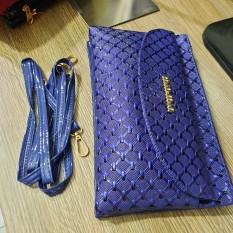 Túi đeo tay đeo chéo nữ dự tiệc vân da cá CD34 Shalla