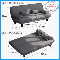 Ghế – Ghế sofa phong cách Hàn Quốc – Giường Sofa Rộng 1m x Dài 1m2 Gấp Gọn Thành Ghế Đa Năng