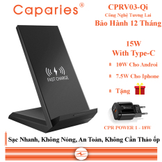 Sạc Nhanh Không Dây CAPARIES CPRV03-Qi
