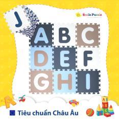 Thảm xốp cho bé – chữ cái Pastel (26 miếng, tổng kích thước 26 miếng 1.2mx1.8m) Smile Puzzle – KHÔNG MÙI CHUẨN CHÂU ÂU