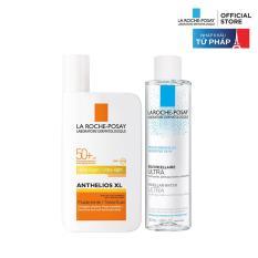 Bộ chống nắng không nhờn rít La Roche-Posay Anthelios XL Fluid Ultra Light 50ml & nước tẩy trang cho da nhạy cảm 50ml