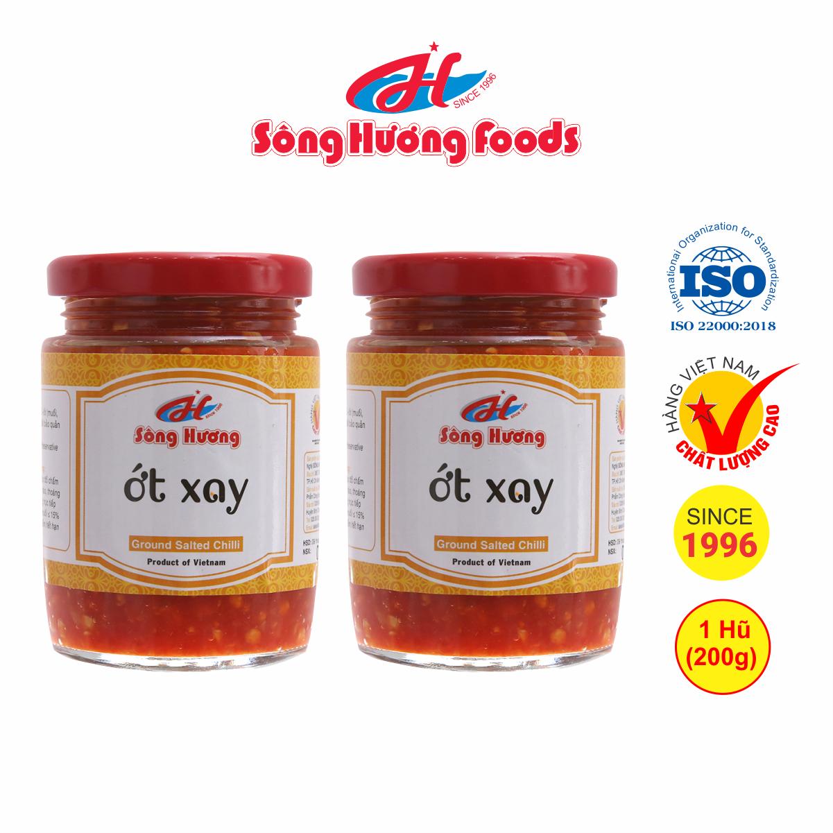 2 Hũ ớt tươi xay Sông Hương Foods hũ 200g