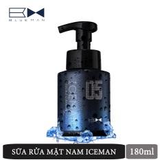 Sửa Rửa Mặt Tạo Bọt Nam Iceman BLUEMAN Chính Hãng Ngừa Mụn & Làm Sạch Da 180ml ZL56