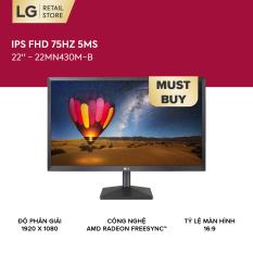 Màn hình máy tính LG IPS FHD (1920 x 1080) 75Hz 5ms 22 inches l 22MN430M-B l HÀNG CHÍNH HÃNG