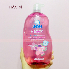 Tắm Gội D-NEE – Head & Body Baby Wash 800ml #Sakura (Hồng)