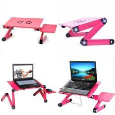 Bàn kê laptop có 2 quạt tản nhiệt xoay 360 độ có bàn di chuột