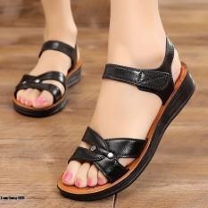 Dép sandal cao su đúc cao cấp đế bệt siêu êm quai dán size 36-40