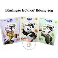 [8/2021] Bánh gạo ăn dặm hữu cơ Ildong cho bé 5m+ túi zip 30gr – Mầm gạo tn