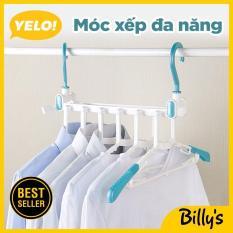 Billy's YELO!Móc xếp đa năng gắn tường tiện dụng Móc nhựa treo quần áo nhiều lớp