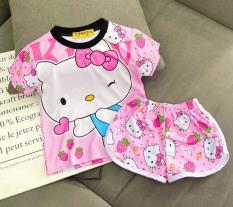Bộ ngố thun lạnh in 3D siêu đẹp cho bé gái size từ 10 đến40lg – Bộ quần áo trẻ em