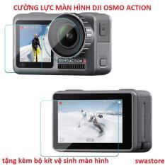 [Tặng bộ kit vệ sinh màn hình] Combo cường lực màn hình và ống kính cho DJI Osmo Action – bộ 3 miếng – SWASTORE