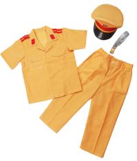 Bộ đồ quần áo công trẻ em an cảnh sát giao thông kèm mũ cho bé từ 2-6 tuổi