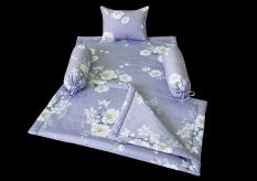 Bộ trải giường cho bé bằng vải cotton in hoa 5 chi tiết