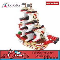 Đồ chơi lắp ráp Tàu cướp biển RED FORCE Once Piece Lele Brother 8268
