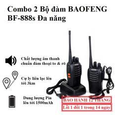 [COMBO] 2 Bộ Đàm 2 Chiều BAOFENG – 888S – 15 Băng Tần – Full Phụ Kiện