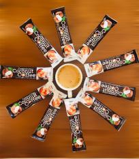 Combo 10 Gói Cà Phê Hòa Tan Cappuccino Sữa Dừa 4 In 1 Hạt A Cafe Vị Cốt Dừa Tự Nhiên – 18g/Gói