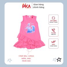 Đầm váy sát nách Elsa – PIKA KIDS – cho bé gái -chất liệu cotton từ 12-25kg