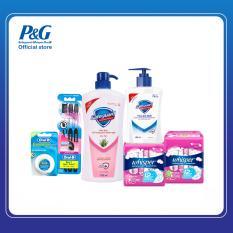 Bộ sản phẩm Chăm sóc toàn diện cho gia đình: Safeguard – Whisper – OralB