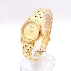 Đồng hồ nữ HALEI dây kim loại thời thượng ( HL501 dây vàng mặt vàng ) – TẶNG 1 vòng tỳ hưu phong thuỷ
