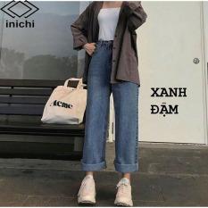 Quần Jean nữ ống rộng SIMPLE JEAN Q855 lưng ôm chất đẹp – INICHI STORE shop chuyên quần jean nữ