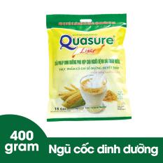 Bột ngũ cốc Quasure Light Sữa túi 400 gram Bibica cho người tiểu đường/ đái tháo đường và người ăn kiêng