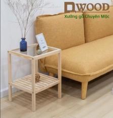 Kệ đầu giường Dwood mặt kính cường lực tiêu chuẩn xuất khẩu – tab đầu giường đa năng