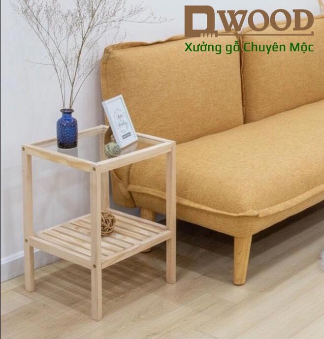 Kệ đầu giường Dwood mặt kính cường lực tiêu chuẩn xuất khẩu - tab đầu giường đa năng