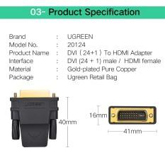 Đầu chuyển đổi DVI 24+1 to HDMI chính hãng Ugreen chính hãng chạy được 2 chiều bh 2 năm -TRUNG TÂM MÁY TÍNH LONG THÀNH