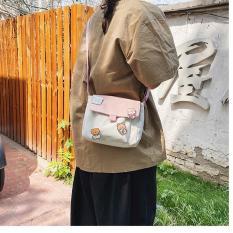 Túi đeo chéo phong cách Harajuku chống nước cá tính thời trang dành cho cả nam và nữ Tặng kèm stiker