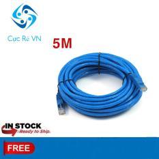 Dây Cáp Dành Cho internet/Lan 5M loại tốt 2 đầu đúc sẵn