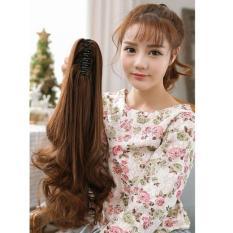 Ngoặm tóc xoăn cột đuôi gà Hàn Quốc – NTG240 ( dài 60cm – MÀU NÂU VÀNG GIỐNG HÌNH )
