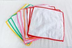 Bộ 10 tấm lót 2 mặt vải và nilon chống thấm cho bé giặt được