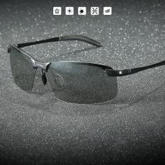 Kính đổi màu nam gọng kim loại nhẹ, kính polarized phân cực chống chói, chống tia UV 400 – MK1911