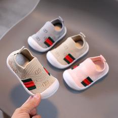 Giày Tập Đi Cho Bé Trai Bé Gái Đế Mềm Chống Trơn Trượt Giày Bún Tập Đi Phong Cách Hàn Quốc G38