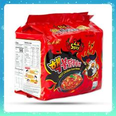 Combo 5 Mì Khô Gà Siêu Cay 2X Hot Chicken Flavor Ramen Sam Yang 140g