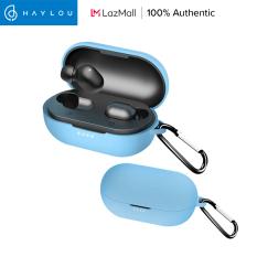 Ốp silicon thiết kế đơn giản kèm móc khóa chống mất cho tai nghe bluetooth Haylou GT1 Pro/GT1 XR – INTL
