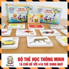 Bộ thẻ học 16 chủ đề song ngữ Anh Việt (416 thẻ học) cho bé SHOPMEBEE