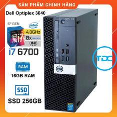[Trả góp 0%]Case máy tính để bàn Dell Optiplex 3040 SFF core i7 6700 ram 16GB SSD 256GB. Quà Tặng. Hàng Nhập Khẩu. Bảo hành 24 tháng