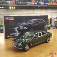 Xe mô hình hợp kim siêu xe Bentley Mulsane tỉ lệ 1:24 hãng XLG màu xanh rêu