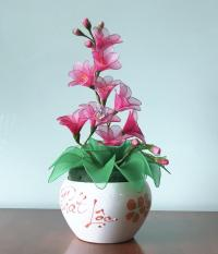 Hoa vải voan Handmade