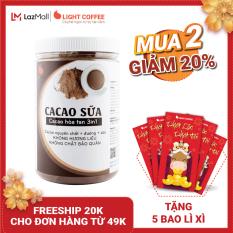 [MUA 2 GIẢM 20%+ 5 BAO LÌ XÌ] Bột CACAO SỮA hòa tan 3 in 1 Light Cacao đậm đà thơm ngon,dùng pha uống liền, đặc biệt không pha trộn hương liệu, 100% từ cacao nguyên chất – hũ 550g