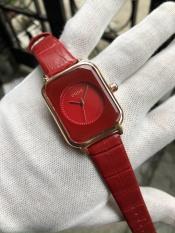 Đồng hồ nữ Guou mặt vuông dây da cao cấp, chống nước, thời trang Hot trend Hàn Quốc