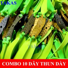 ComBo 10 Dây Thun Cao Su Loại 1mm,loại đàn hồi tốt,ược buộc sẵn da 3 lỗ
