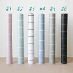 Giấy dán tường kẻ ô phong cách sang trọng Hàn Quốc Khổ 5M HPMWallpaper.Không dễ phai, không thấm nước ,không độc hại, hoàn toàn thân thiện với môi trường.
